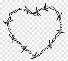 Barbed Wire Drawing Heart Barb Monocular Transparent Png