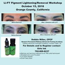 permanent makeup removal in california
