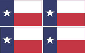 4x 6cm X 3 6cm Texas Flag Bumper Sticker Vinyl Car Window Decal Stickers Stickertalk