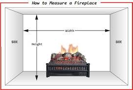 measure the dimensions of a fireplace