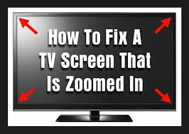 how to fix a tv screen that is zoomed