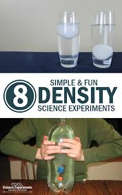 8 simple experiments to learn about density