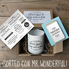 Finalizado Sorteo Mr Wonderful Kit De Aniversario Lamina