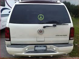 Peace Sign Marijuana Camo Vinyl Decal Truck Window Sticker Pot Leaf Mary Jane