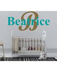 New Savings On Girl S Custom Name And Initial Wall Decal Choose Your Own Name Initial And Letter Styles Multiple Sizes Personalized Name Wall Decal Wall Decal Wall Sticker Decor Nursery Wall Decal