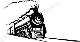 Amazon Com Vintage Train Train Tracks Train On Tracks Vinyl Wall Decal Home Decor Wall Mural Sticker 12 X 22 Home Kitchen
