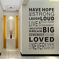 Delma Inspirational Wall Decals Quotes Word Wall Sticker Quotes Motivational Wall Decal Family Inspirational Wall Art Sticker Vinyl Wall Mural Paint Decor Amazon Com