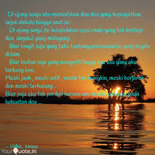di ujung senja aku mena quotes writings by vidhia kanaya