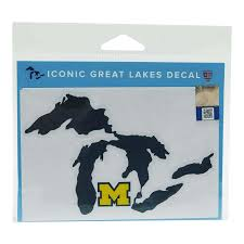 Great Lakes Decal Maize M Blue Lake U Of M 1 Ct Interior Car Accessories Meijer Grocery Pharmacy Home More