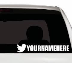 Twitter Custom Vinyl Decal Twitter Handle Decal Twitter Logo Decal Personalized Twitter Logo Sticker Twitter Custom Sticker Custom Vinyl Vinyl Decals Custom Stickers