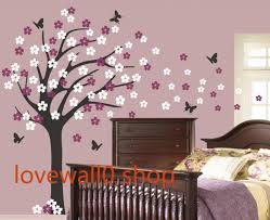 Vinyl Butterfly Wall Decal Large Roman Cherry Blossom Tree Decals Two Set Flower Home House Wall Sti On Luulla
