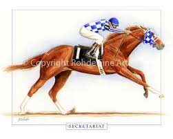 thoroughbred horse racing art