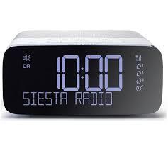 siesta rise dab fm bedside alarm clock