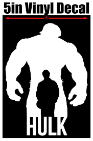Hulk Silhouette 5 Quot Vinyl Window Decal Available In Black White Silver Red Alien Green Free Shipping Vinyl Window Decals Vinyl Window Decals
