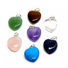 small crystal heart pendants mystery