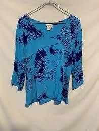 Ivy Reed Women Medium Blue Artsy Rayon Shirt 2317   eBay in 2020   Rayon  shirt, Medium blue, Women