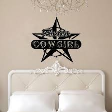 Loon Peak Fairbrother Rodeo Cowgirl With Barbed Wire And Star Vinyl Graphic Word Wall Decal Wayfair