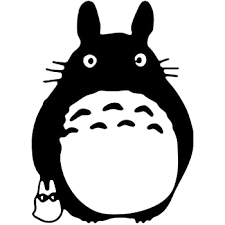 Amazon Com Bargain Max Decals Totoro Black Ghibli Laputa Jdm Anime Sticker Decal Notebook Car Laptop 5 Black Automotive