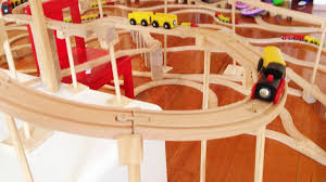 huge kids wooden train set video with