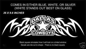 Dallas Cowboys 36 Back Window Or Tailgate Tribal Decal 45164727