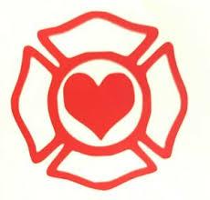 Love Firefighter Shield Heart Wife Girlfriend Tumbler Car Decal Sticker Ebay