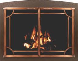wood burning fireplace glass doors