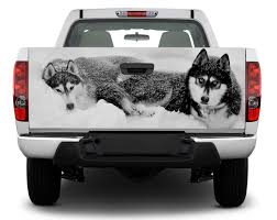 Product Huskies Wolf Tailgate Decal Sticker Wrap Pick Up Truck Suv Car