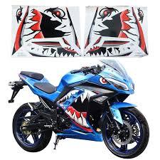 Domestic Kawasaki Ninja Motorcycle All Car Shark Decal Film Accessories Sports Car Sticker
