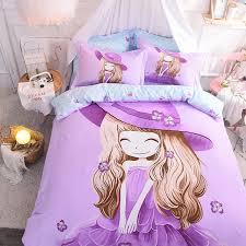 purple pink green girls cute beddings