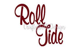 Alabama Roll Tide Decal Roll Tide Decal Alabama Crimson Etsy