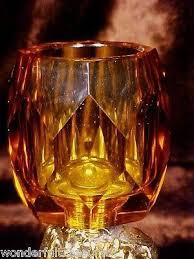 fab vntg gold plate cherub lamb amber