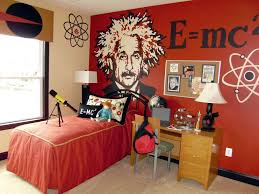 Mad Science Boys Room I Would Get Rid Of The Einstein I Could See That Giving My Son Nightmares Science Bedroom Decor Science Bedroom Cool Room Designs