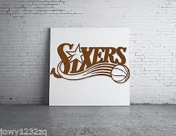8 Inches Philadelphia 76ers Sixers Vinyl Sticker Decal Nba Basketball Ebay