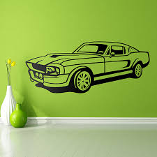 Wall Decal Ford Mustang Shelby Muraldecal Com