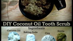 coconut oil tooth scrub with bentonite