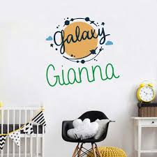 Personalized Name The Sun With Star Wall Decal Sticker Nursery For Home Decor Krafmatics
