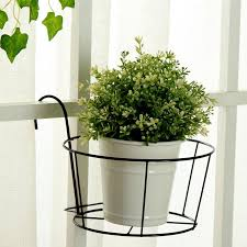 2020 Hanging Railing Planter Baskets Flower Pot Holder Hanger Iron Potted Plants Rack Over The Rail Fence Pots Stand For Patio Balcony Porch From Yizhichu 7 19 Dhgate Com