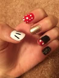 Mickey Mouse Gel Nails! | Mickey nails, Nails, Gel nails