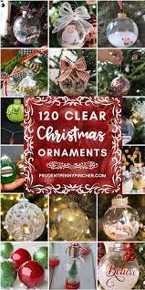 120 diy clear glass ornaments