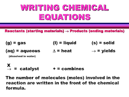 writing chemical equations powerpoint
