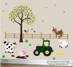 Farm Wall Decal Childrens Wall Sticker Farm Von Couturedecals 149 00 Farm Wall Decals Childrens Wall Stickers Childrens Bedroom Decor