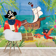 Pirates Wall Mural Wallpaper Wallsauce Us