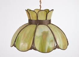 slag glass stained glass pendant lamp