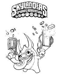 Skylanders Spyros Adventure Kleurplaten 1