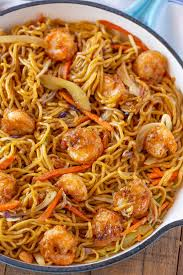 Shrimp Chow Mein - Dinner, then Dessert