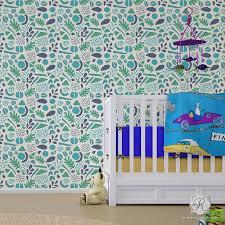Modern Geometric Shapes Wall Stencils For Diy Nursery Kids Decor Royal Design Studio Stencils