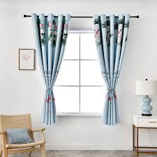 Cartoon Window Curtains For Girls Living Room Blue Curtains For Kids Boys Bedroom Short Window Door Drape M183 30 Curtains Aliexpress