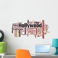 Hollywood Word Cloud Wall Decal Wallmonkeys Peel And Stick Graphic 24 In W X 12 In H Wm502664 Walmart Com Walmart Com