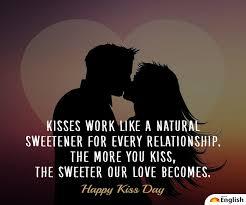 kiss day 2020 wishes shayari es