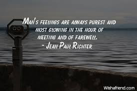 jean paul richter quote man s feelings are always purest and most
